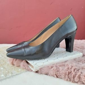 Stuart Weitzman Vintage Leather Dress Heels Pumps